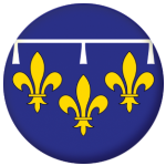 Orléanais Former Province Flag 25mm Pin Button Badge